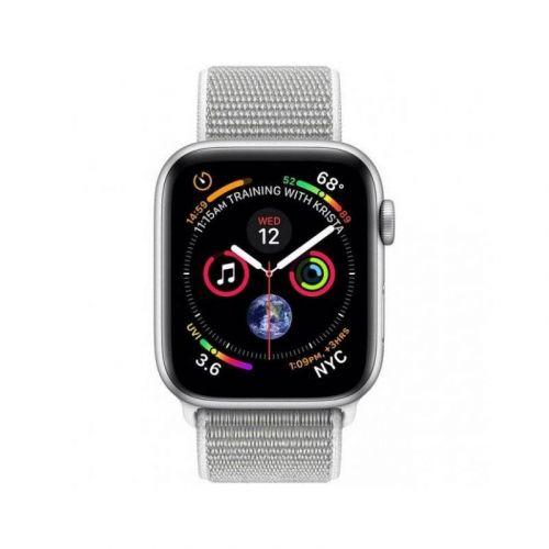 Смарт-часы Apple Watch Series 4 44mm GPS (MU6C2) Silver Aluminum Case with Seashell Sport Loop