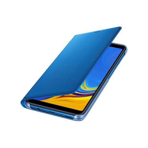 Чехол Samsung Wallet Cover для Galaxy A7 2018 (Blue) купить