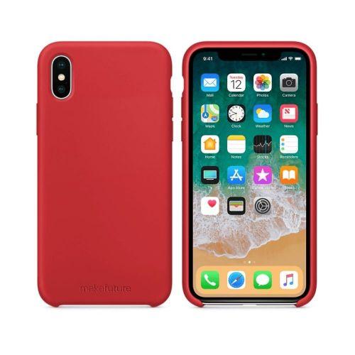 Чехол MakeFuture Silicone для Apple iPhone X (MCS-AIXRD) Red купить