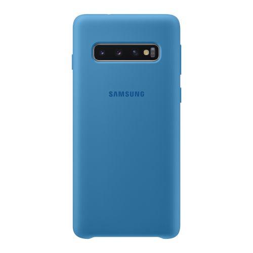 Чехол Samsung Silicone Cover для Galaxy S10 (EF-PG973TLEGRU) Blue купить