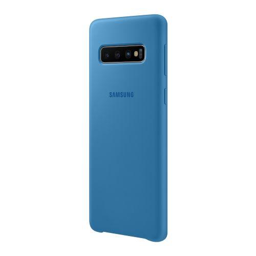Чехол Samsung Silicone Cover для Galaxy S10 (EF-PG973TLEGRU) Blue