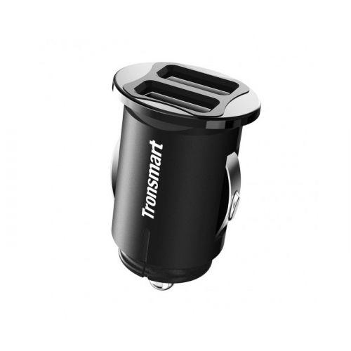 Автомобильний зарядний пристрій Tronsmart C24 Dual USB Charger Black