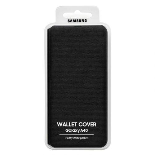 Чехол Samsung Wallet Cover для Galaxy A40 (EF-WA405PBEGRU) Black в интернет-магазине