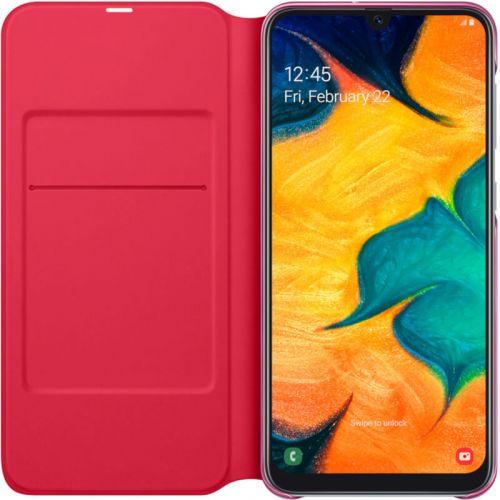 Чехол Samsung Wallet Cover для Galaxy A30 (EF-WA305PWEGRU) White купить