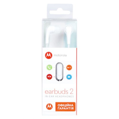 Гарнитура Motorola Earbuds 2 White купить