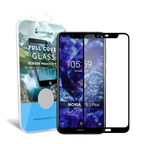 Защитное стекло MakeFuture Full Cover для Nokia 5.1 Plus Black
