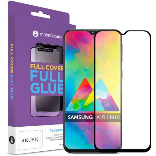 Защитное стекло MakeFuture Full Cover Full Glue для Samsung Galaxy A10 (Black)